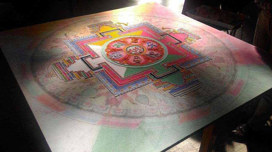 Das Foto zeigt ein Mandala
