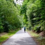 Fahrrad- und Joggerweg zum Grugapark in Essen. ©mhu