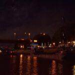 Feuerwerk am Hafen in Duisburg. ©mhu