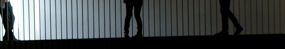 """Blick auf 1. OG im DA Kunsthaus Kloster Gravenhorst während der Ausstellung """"Meeting Halfway"""" im Rahmen des Münsterland Festivals part 9."""